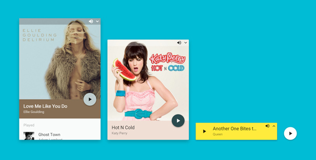 Kast - Preview | shoutcast html5 player | material design